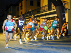 La partenza della gara maschile